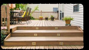 patio wood stair