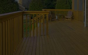 Patio Wood Flooring and Raillings